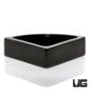 Corner Ceramic Bowl Black