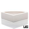 Corner Ceramic Bowl White